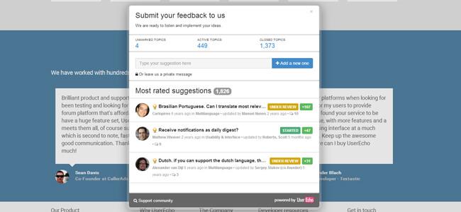 customer feedback website