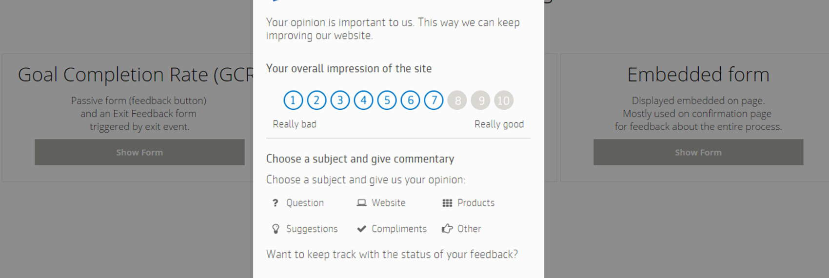 Mopinion: Feedback Form
