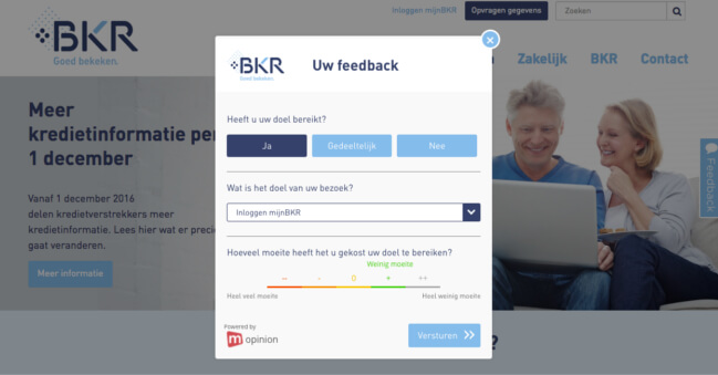 Mopinion: BKR Feedback Form