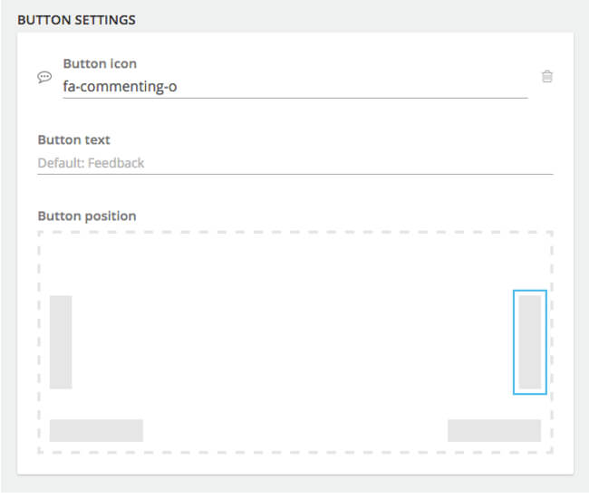 Mopinion: How to build the best feedback forms - Button Settings