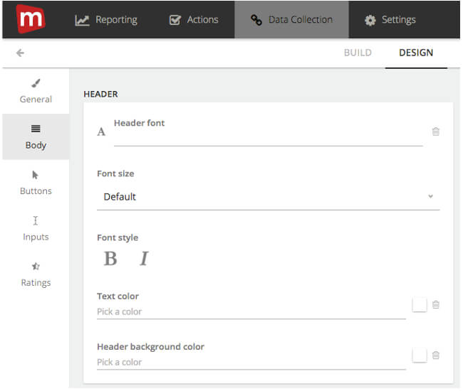 Mopinion: How to build feedback forms - Font Design