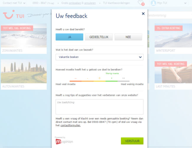 Mopinion: What is a website feedback tool - Feedback form