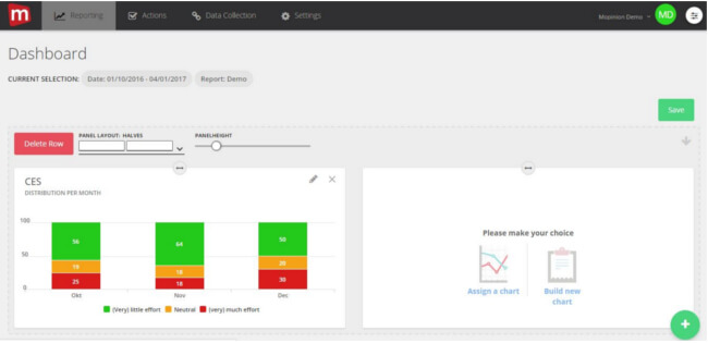 Mopinion: Building your user feedback dashboards: the easy way - Build New Chart