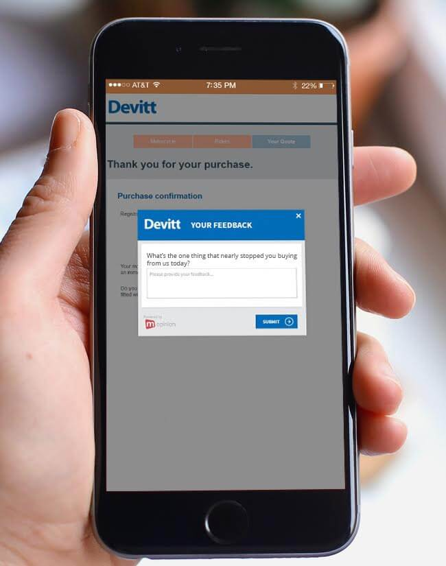 Mopinion: How to improve mobile experience using digital feedback - Devitt Confirmation