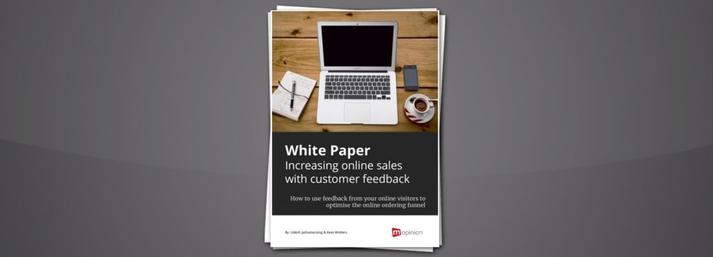 Mopinion: White Paper - Increasing online sales with customer feedback - Cover Image