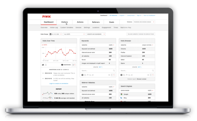 Piwik - UX analytics and event tracking tools