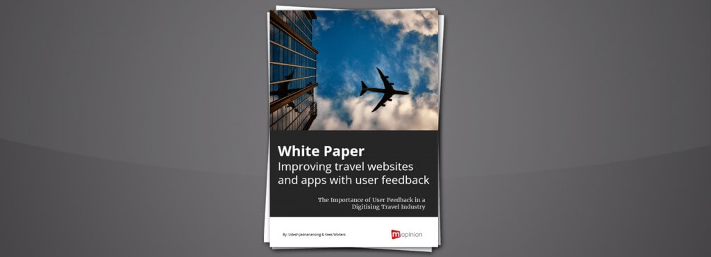 White Paper – Improving travel websites and apps with user feedback – 2017