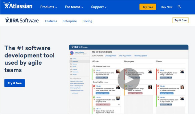 Mopinion: 34 Online Feedback Tools: An overview - JIRA