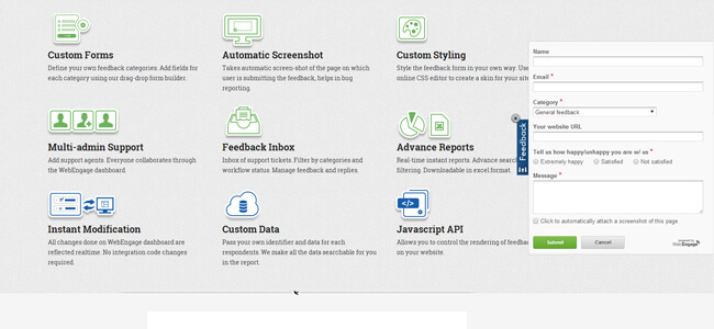 Mopinion: 34 Online Feedback Tools: An overview - WebEngage