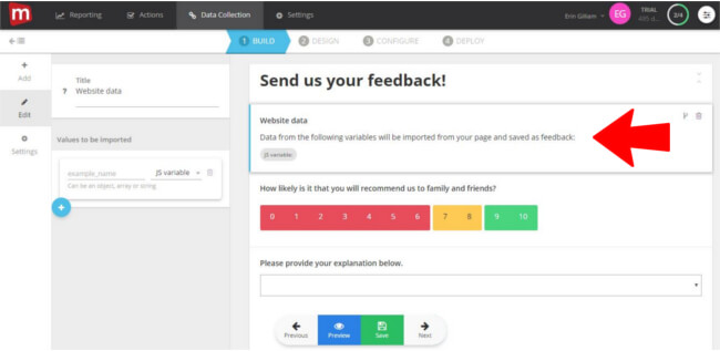 Mopinion: Mopinion adds new feature to append 'website data' to feedback - Website data added