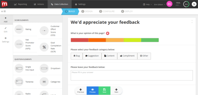 Mopinion: Mopinion introduces 'slide-in' feedback forms to its feedback software - BUILD
