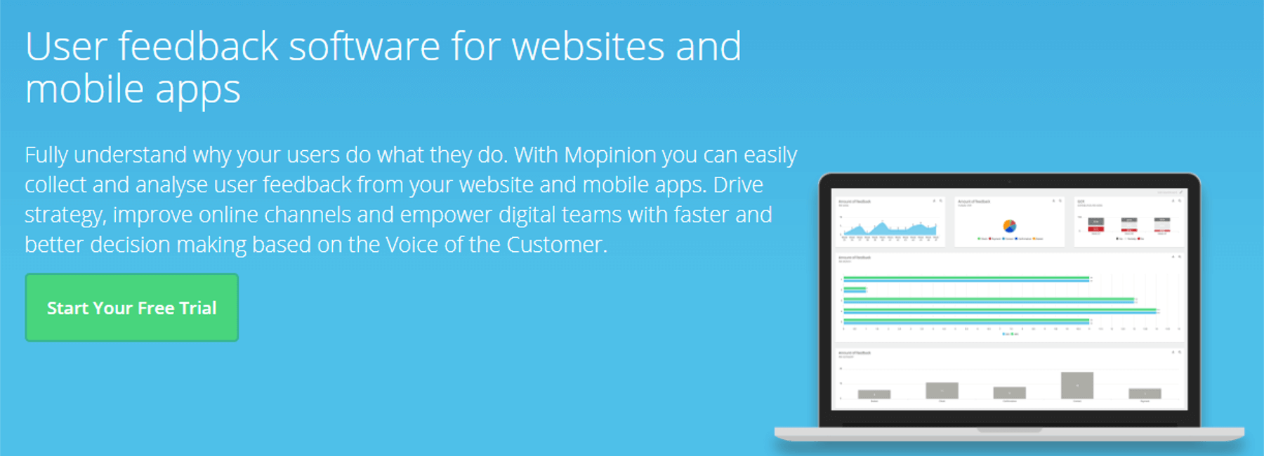New and improved Product page on the Mopinion website - Mopinion