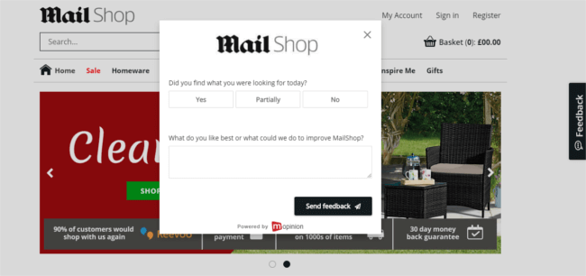 Mopinion: What is a website feedback button? - MailShop