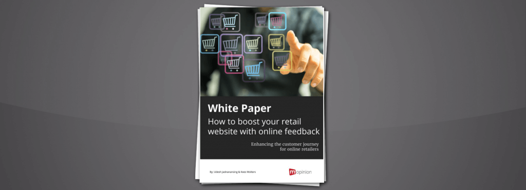 Mopinion: New White Paper: How to Boost your Retail Website with Online Feedback - Cover