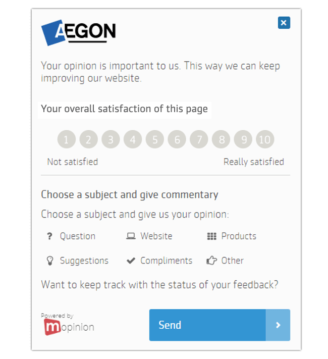 Mopinion: The Best Feedback Form Templates for Your Website - CSAT