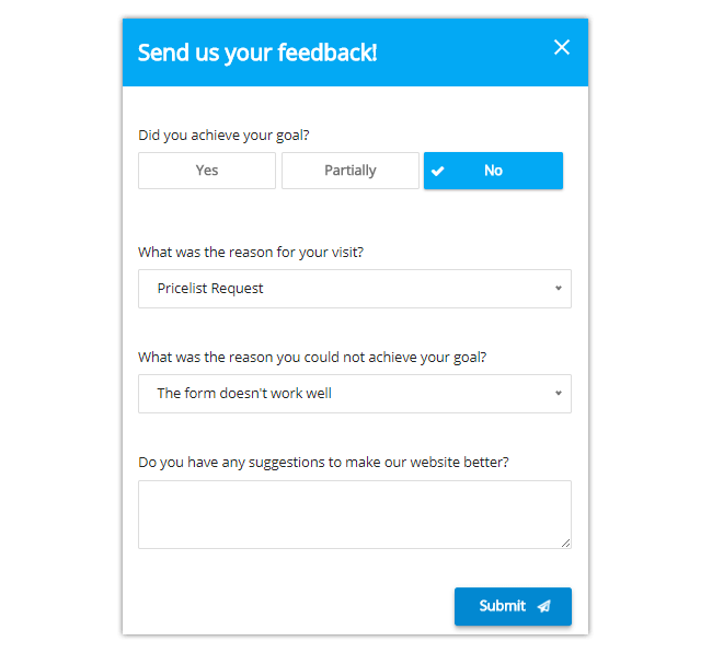 Mopinion: The Best Feedback Form Templates for Your Website - GCR