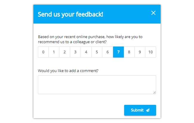 Mopinion: The Best Feedback Form Templates for Your Website - NPS