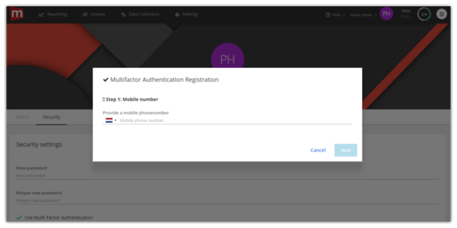 Mopinion: Mopinion adds extra security layer with Two Factor Authentication - Add phone number