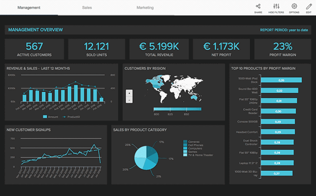 Mopinion: Which KPI Dashboarding Software should Digital Marketing Managers Use? - Datapine