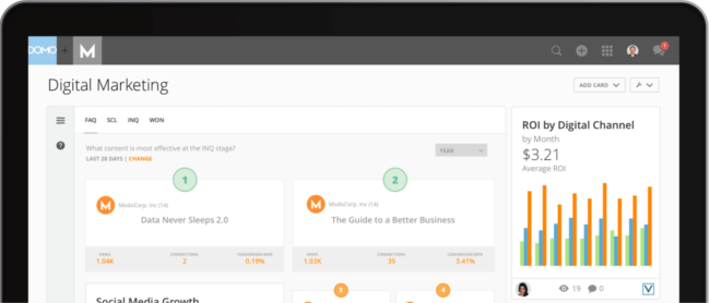 Mopinion: Which KPI Dashboarding Software should Digital Marketing Managers Use? - Domo