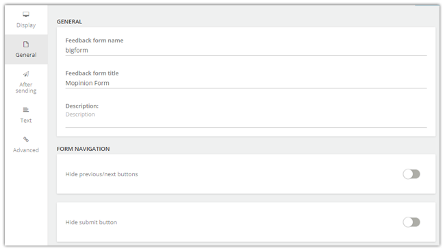 Mopinion: April Product Updates: featuring URL parameters and auto post forms - hide form navigation