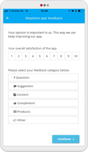 Mopinion: 5 Easy-To-Use Mobile App Feedback Form Templates -CSAT