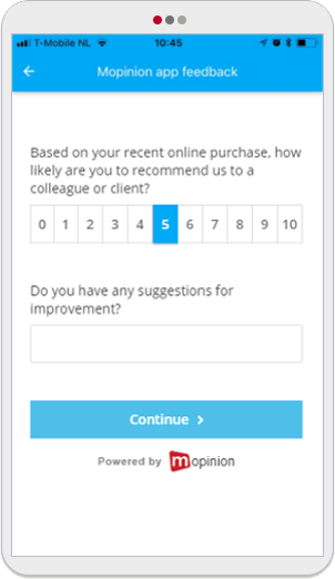 Mopinion: 5 Easy-To-Use Mobile App Feedback Form Templates -NPS