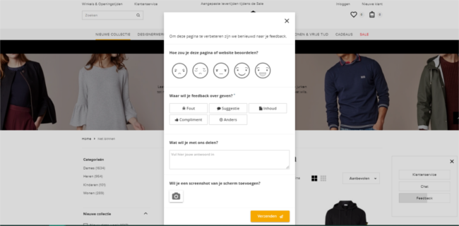 Mopinion helps De Bijenkorf provide the ultimate omnichannel shopping experience - Feedback Form