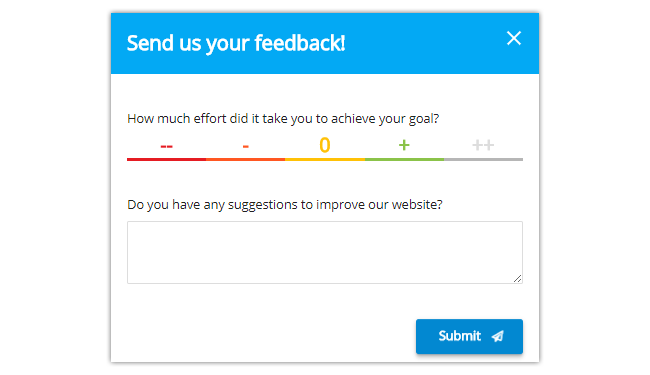 Mopinion: Best Feedback Form Templates for Customer Effort Score (CES) - CES + Open Cmmts