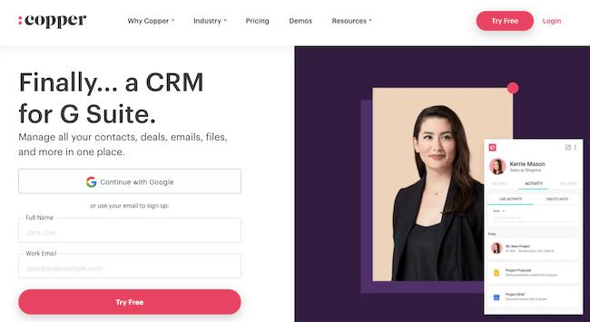Top 15 Best Enterprise CRM Software - Copper