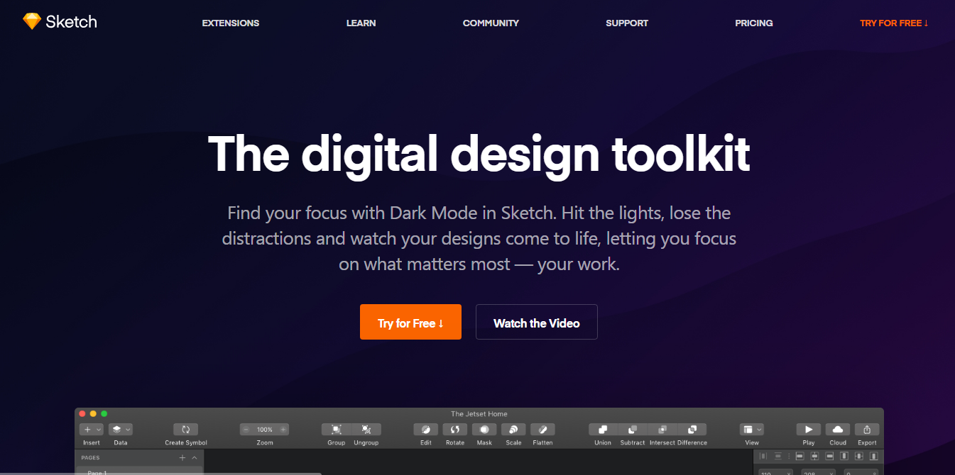 Mopinion: Top 25 Tools for UX Designers - Sketch