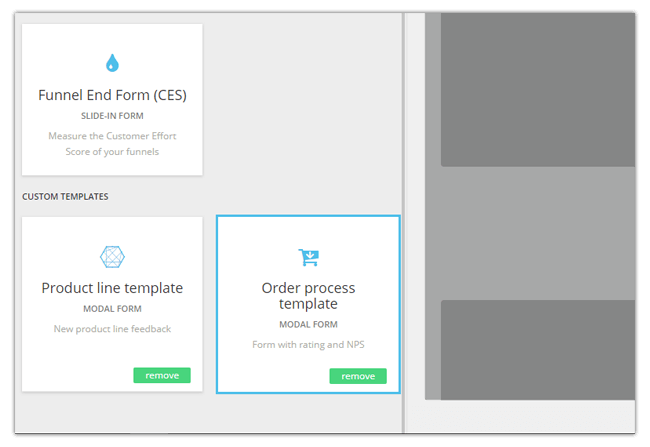 Mopinion: September Product Update - Template overview