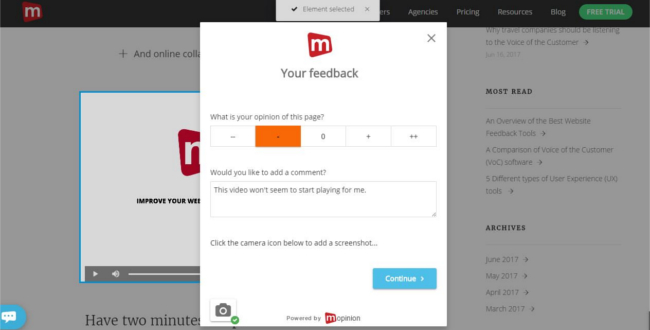 Mopinion: Here's why UX Designers Need User Feedback - Visual Feedback