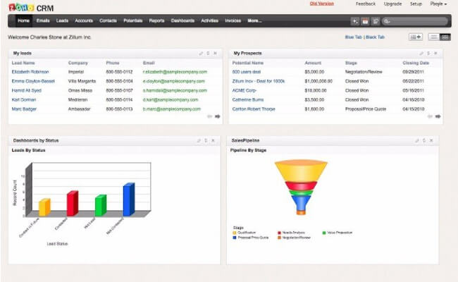 Mopinion: Top 15 Best CRM Software for Small Businesses - Zoho CRM