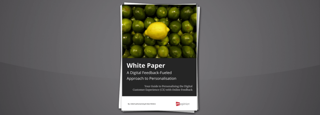 Mopinion White Paper: A Digital Feedback-Fueled Approach to Personalisation - Cover Image