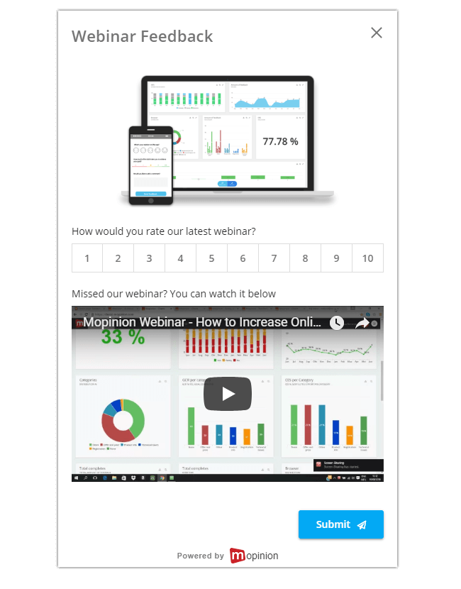 Mopinion: September Product Update - Form preview with multimedia