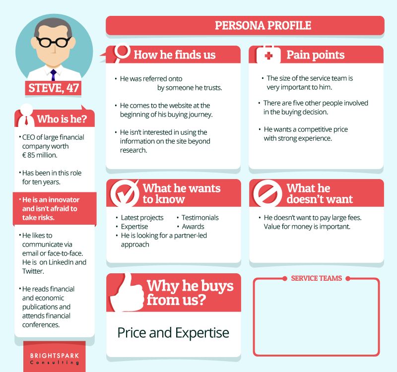 Mopinion: 4 Steps to a Successful Customer Obsessed Marketing Strategy- Persona profile