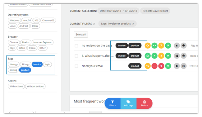 Mopinion: November Product Update: introducing new metrics to monitor your feedback forms -  Tags