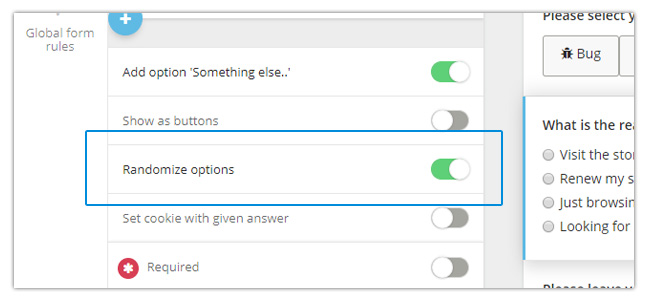 Mopinion: November Product Update: introducing new metrics to monitor your feedback forms -  Randomize
