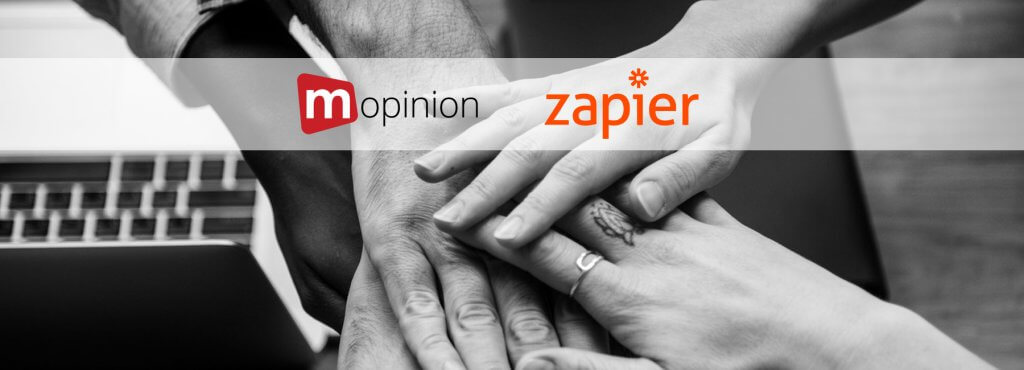 Mopinion: How to integrate user feedback data with Zapier (using Mopinion webhooks) - Cover
