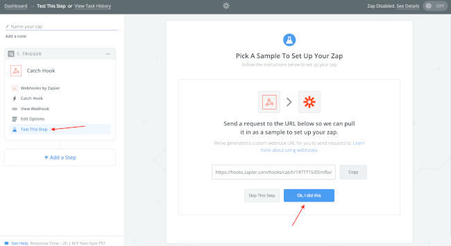 Mopinion: How to integrate user feedback data with Zapier (using Mopinion webhooks) -  pick a sample to set up your zap