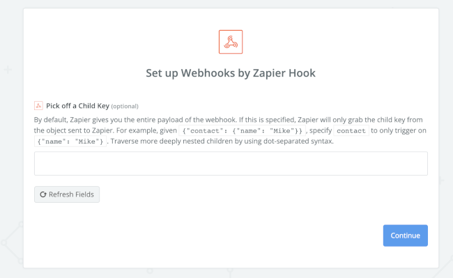 Mopinion: How to integrate user feedback data with Zapier (using Mopinion webhooks) -  set up webhooks by zapier hook