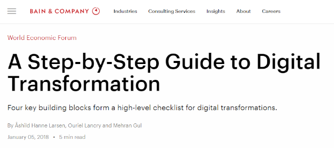 Mopinion: 10 Must-Read Guides to Digital Transformation - Bain and Company Guide