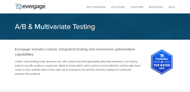 Mopinion: Top 20 A/B testing Tools that will boost conversions - Evergage