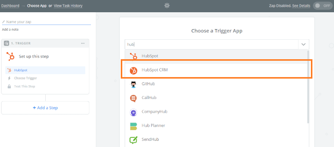 Mopinion: Integrate Mopinion with HubSpot CRM using Zapier - Choose a Trigger App