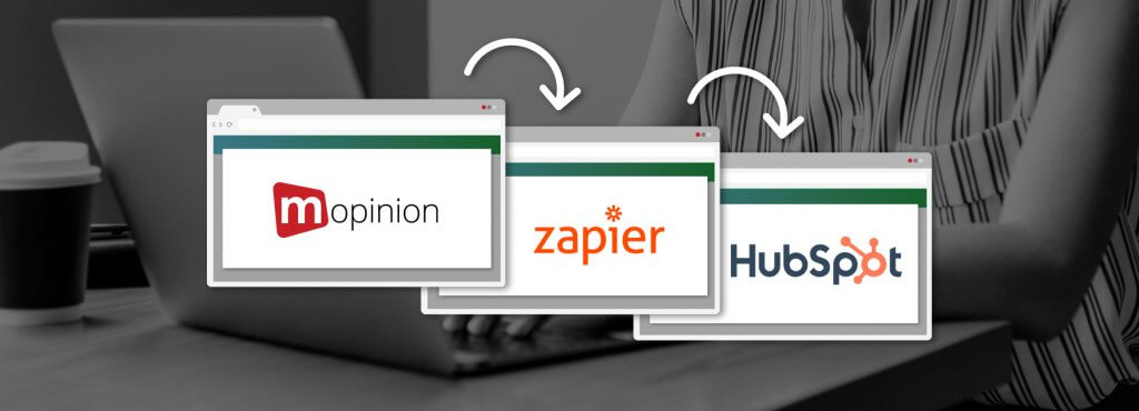 Mopinion: Integrate Mopinion with HubSpot CRM using Zapier - Cover