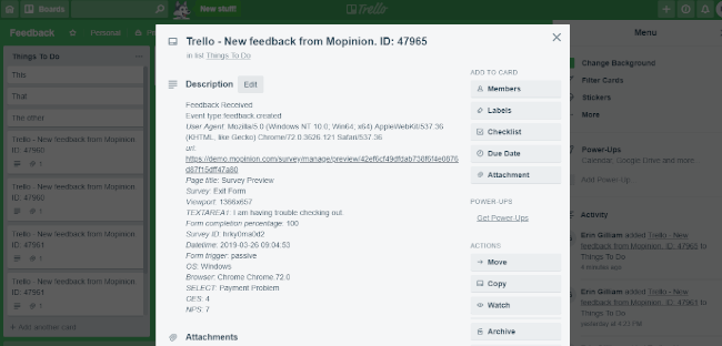 Mopinion: Next-level Productivity: Mopinion now integrates with Trello - Feedback in Trello