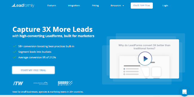 Mopinion: Top 20 Lead Management Software - Leadformly