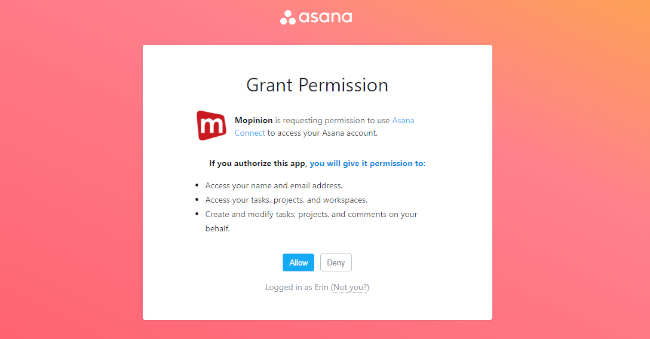 Mopinion: Tying it all together: Mopinion launches new integration with Asana - Permission