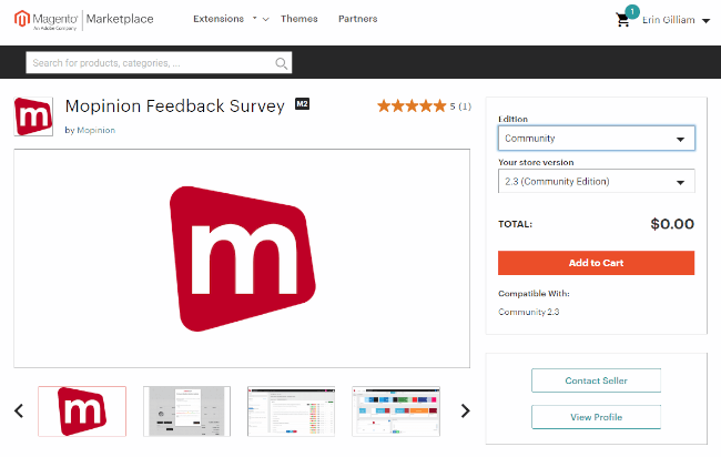 Mopinion: How to Install a Feedback Form in Magento - Add to cart